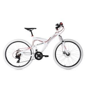 VTT tout suspendu 26'' Topspin blanc-rouge TC 46 cm KS Cycling KS
