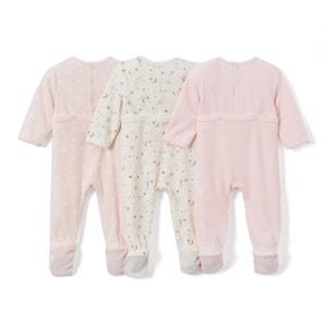 Pijama de terciopelo 0 meses-3 años (lote de 3) La Redoute Collections