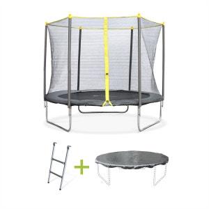 Pack trampoline complet Ø 250cm Springbok, avec filet, échelle et bâche de prote ALICE S GARDEN