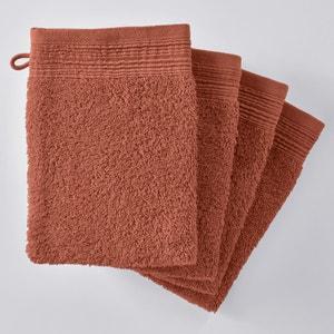 Guanti da toilette tinta unita spugna cotone bio (confezione da 4) SCENARIO