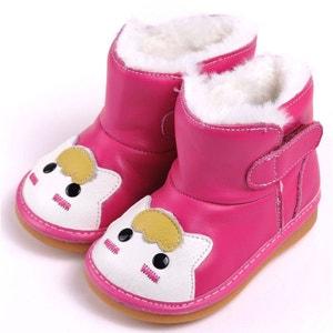 Chaussures à sifflet   Bottes rose petit chat CAROCH