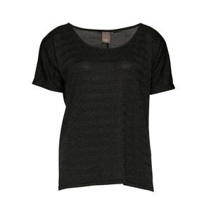 T-shirt, fibres métallisées, motif rayé, UNITED ICHI