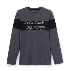 T-shirt fantasia, maniche lunghe da 10 a 16 anni La Redoute Collections