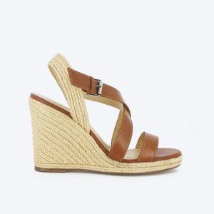 Sandalias de piel con tacón de cuña JONAK