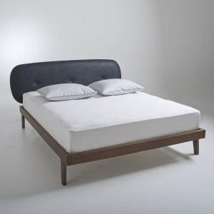 Lit + tête de lit capitonnée + sommier Agura La Redoute Interieurs