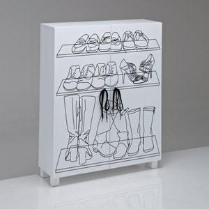 Aderfi Silkscreen Printed Shoe Cabinet La Redoute Interieurs