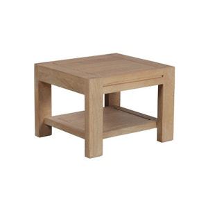Bout de canapé / Table de chevet double plateaux Manguier massif 46x32x33cm BOREAL CLAIR PIER IMPORT
