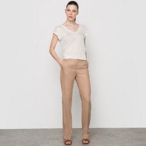 Straight Leg Pure Linen Trousers atelier R