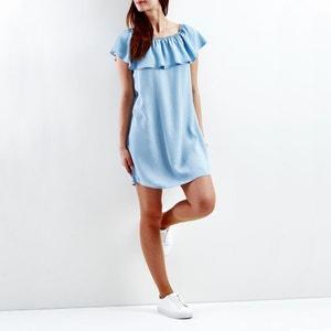 Off-The-Shoulder Lightweight Denim Dress VILA