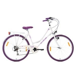 Vélo de ville ado Starlit 26'' blanc-violet TC 43 cm KS Cycling KS