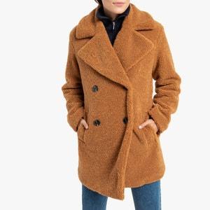 Halflange jas in imitatiebont