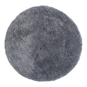 Tapis rond tufté main doux en polyester gris Nevio DELADECO