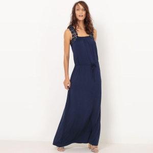 Robe longue en maille, détail crochet R Edition
