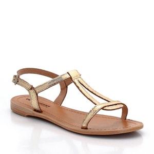 Platte sandalen in leer Hamat LES TROPEZIENNES PAR M.BELARBI