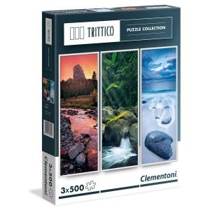 Puzzles Tryptiques 3x500 Pièces - Nature - CLE39800.3 CLEMENTONI