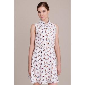 Vestido con estampado de pájaros, sin mangas MIGLE+ME