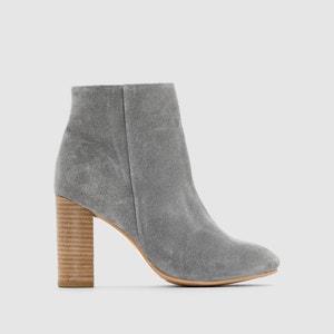 Stylish Leather Boots, Side Zip Fastening R essentiel