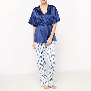 Pijama com 3 peças em cetim La Redoute Collections