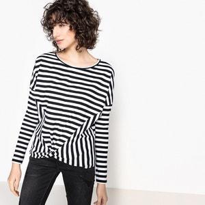Stripe Print Crew Neck T-Shirt KAPORAL 5
