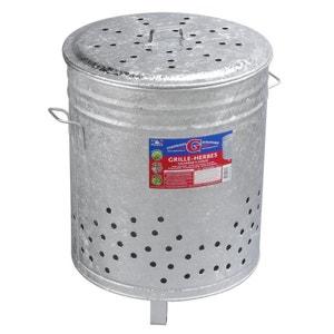 Incinérateur grille herbes galvanise 110 litres GUILLOUARD