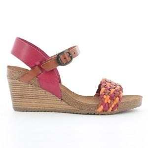 Sandalen met sleehak in leer KICKERS