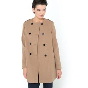 Пальто без воротника La Redoute Collections