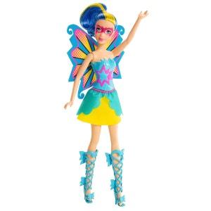 Poupée Barbie Super héros : Makayla en tenue jaue et bleue MATTEL