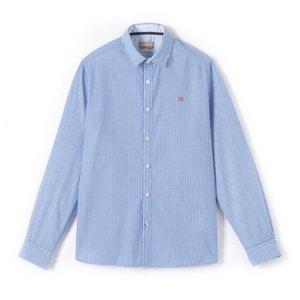 Gulfport Slim Fit Striped Poplin Shirt NAPAPIJRI