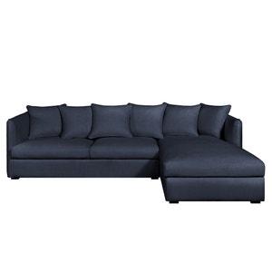 Canapé d'angle fixe Neo Chiquito, coton/lin AM.PM.