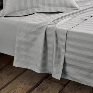 Sábana de satén de algodón, tejido a rayas La Redoute Interieurs
