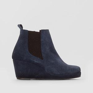 Boots, croûte de cuir ANNE WEYBURN