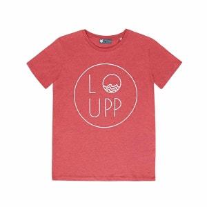 T-shirt homme en coton biologique rouge LOUPP
