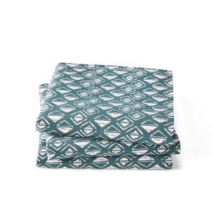 MingHing Lot de 4 Serviettes de Table 100/% Lin avec Ourlet effil/é 35 x 55 cm
