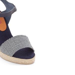 Sandalias de piel con tacón de cuña Athena PARE GABIA