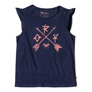 Bedrucktes T-Shirt mit Volantärmeln, 8-16 Jahre ROXY