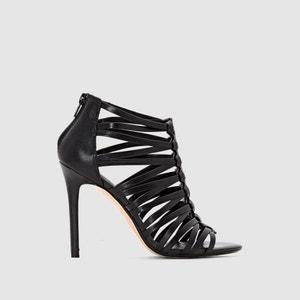 Sandálias estilo romano MEELI, salto agulha, pele DUNE LONDON