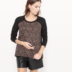 Bluza z nadrukiem VMELLIE LS TOP BOXSWT VERO MODA