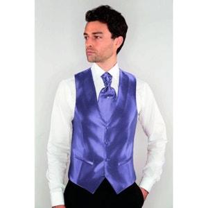 Gilet de Costume Homme 4 boutons poches violet DYMASTYLE