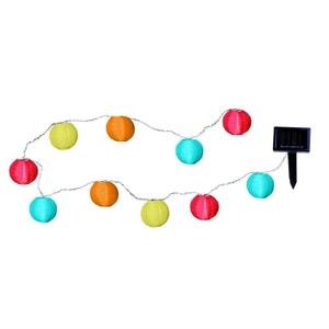 PARTY BALLS - Guirlande Solaire LED d'extérieur 10 Lampions Multicolore L4,7m BEST SEASON