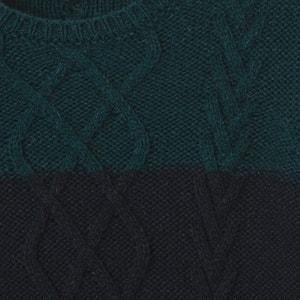 Bicolor trui met kabelmotief 3-12 jaar La Redoute Collections