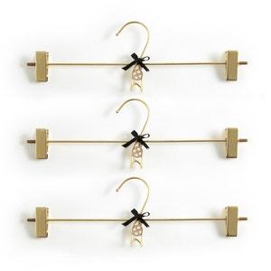 Set van 3 kleerhangers met knijpers Drenia