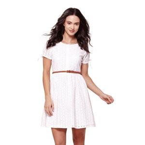 Geborduurde jurk met korte mouwen YUMI