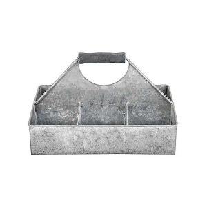 Soucoupe 6 compartiments en vieux zinc ESSCHERT DESIGN