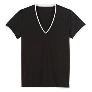 T-shirt grand V pur coton R edition SHOPPING PRIX