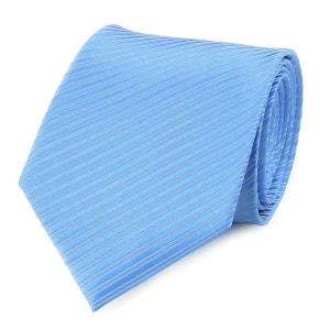 Cravate faux uni bleu ciel VIRTUOSE