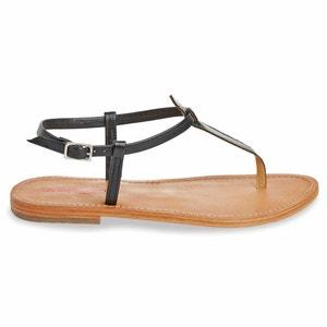 Narvil Flat Leather Toe Post Sandals LES TROPEZIENNES PAR M.BELARBI