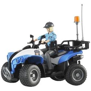 Bruder 63010 Quad Police avec Policière et Accessoires BRUDER