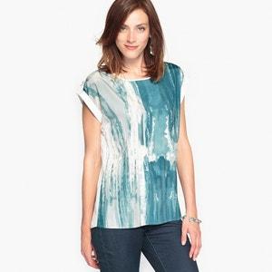 Bedrukte blouse, soepele crêpe ANNE WEYBURN