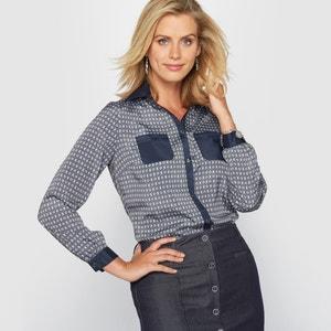 Bedrukte blouse in soepele crêpe ANNE WEYBURN
