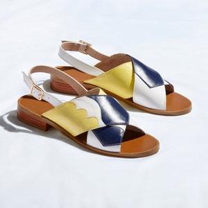 Sandálias rasas com estampado tricolor MADEMOISELLE R